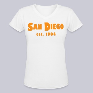 San Diego Est. 1904 - Women's V-Neck T-Shirt