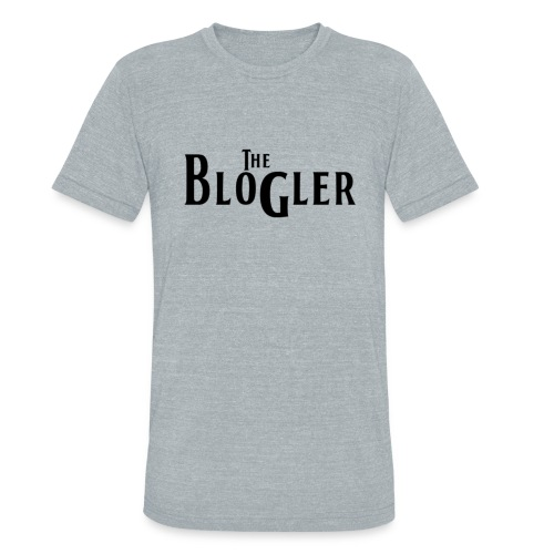 Blogler - Vintage - Black Text - Unisex Tri-Blend T-Shirt