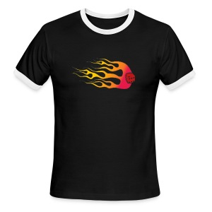 Your Six on FireyA - Men's Ringer T-Shirt