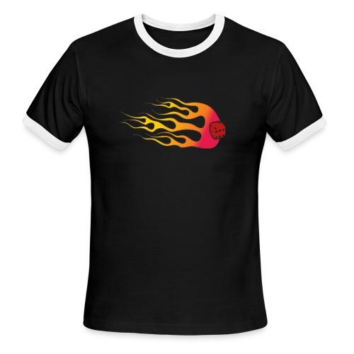 Your Six on FireyA - Men's Ringer T-Shirt