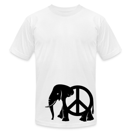 Mens Elephant Peace - Men's Fine Jersey T-Shirt