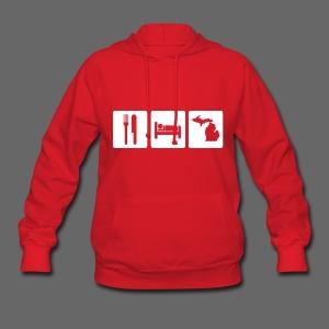 Eat Sleep Michigan Women's Hooded Sweatshirt - Women's Hoodie