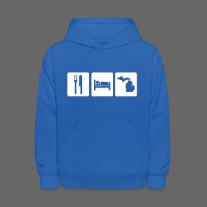 Eat Sleep Michigan Kid's Hooded Sweatshirt - Kids' Hoodie