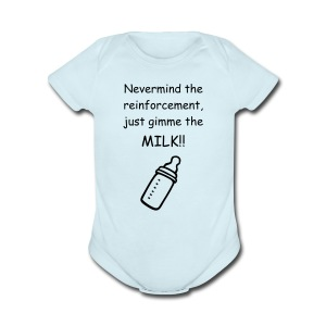 Never mind the reinforcement - Short Sleeve Baby Bodysuit