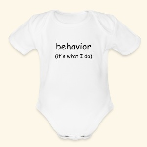 behavior (infant) - Short Sleeve Baby Bodysuit
