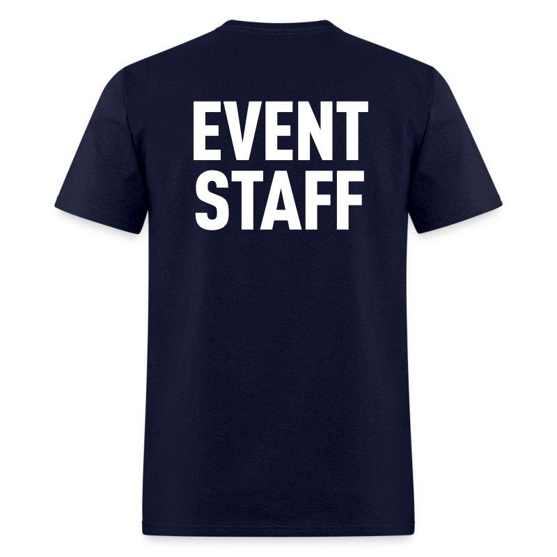 Event staff dark shirt t shirt spreadshirt for Event staff shirt ideas