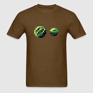Wizball Tshirt Brown - Men's T-Shirt