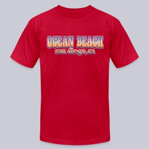 Ocean Beach San Diego Ca - Men's T-Shirt by American Apparel
