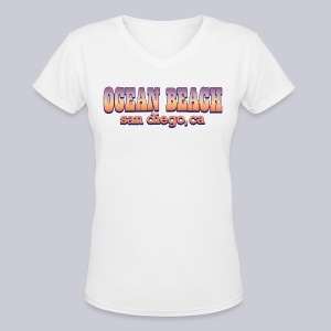 Ocean Beach San Diego Ca - Women's V-Neck T-Shirt