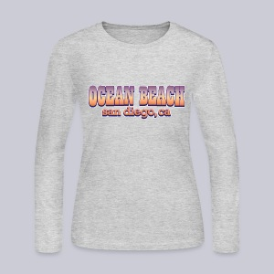 Ocean Beach San Diego Ca - Women's Long Sleeve Jersey T-Shirt
