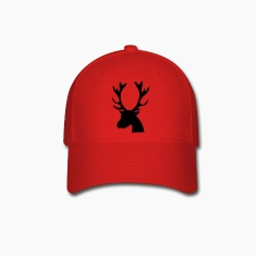 stag head reindeer Caps