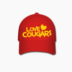 love cougars with heart Caps