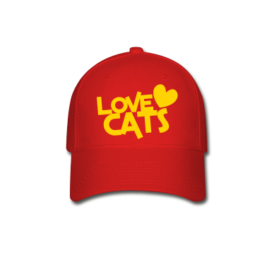 love cats heart cat lover Caps