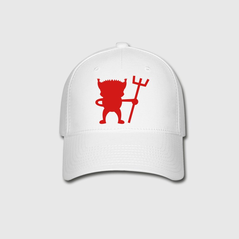 red devil cute with Pitchfork Caps - Baseball Cap