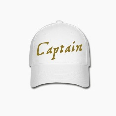 captain in pirate script Caps