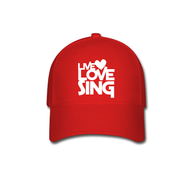 live love sing heart Caps