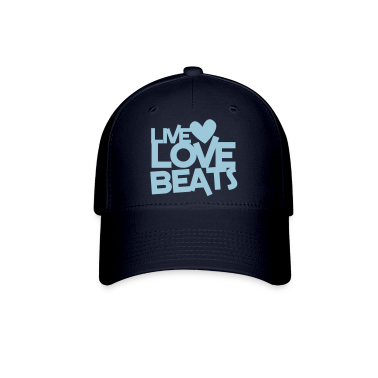 live love beats heart Caps