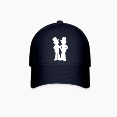two grooms gay wedding Caps