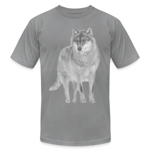 shirt wolf lupus wolves pack wild howling - Men's T-Shirt by American Apparel