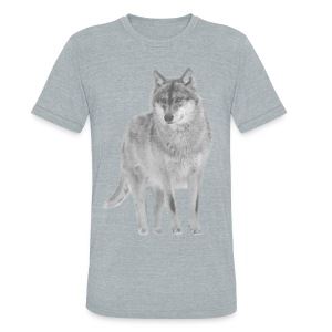 shirt wolf lupus wolves pack wild howling - Unisex Tri-Blend T-Shirt by American Apparel