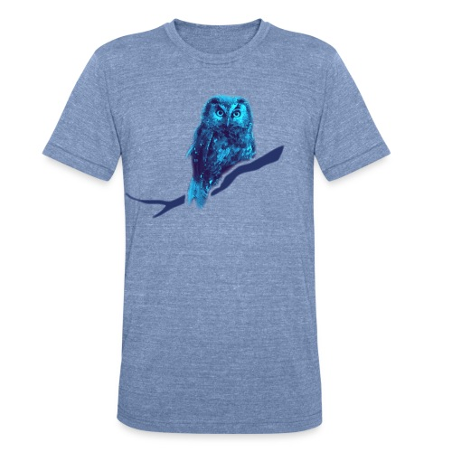 shirt owl owlet bird night wings feather nature forest hunter hunting - Unisex Tri-Blend T-Shirt