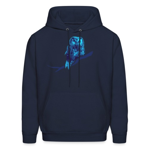 shirt owl owlet bird night wings feather nature forest hunter hunting - Men's Hoodie