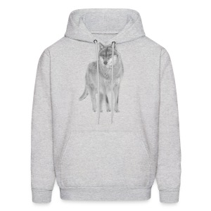 shirt wolf lupus wolves pack wild howling - Men's Hoodie