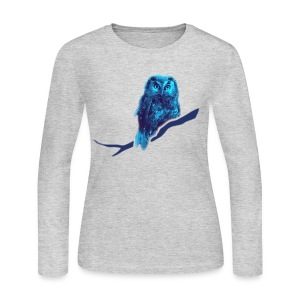shirt owl owlet bird night wings feather nature forest hunter hunting - Women's Long Sleeve Jersey T-Shirt