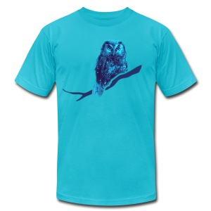 shirt owl owlet bird night wings feather nature forest hunter hunting - Men's T-Shirt by American Apparel