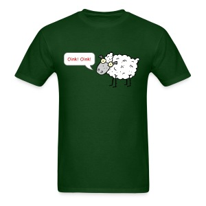 Sheep Oink! Oink! Funny T-Shirt - Men's T-Shirt
