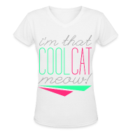 T-Shirts ~ Women's V-Neck T-Shirt ~ [SHINee] Cool Cat