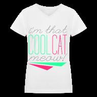 Women's T-Shirts ~ Women's V-Neck T-Shirt ~ [SHINee] Cool Cat