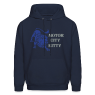 Hoodies ~ Men's Hoodie ~ Motor City Kitty Men's Hooded Sweatshirt