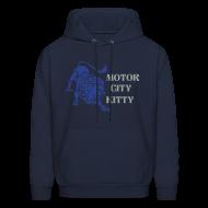 Hoodies ~ Men's Hoodie ~ Motor City Kitty Men's Hooded Sweatshirt