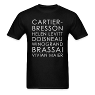 T-Shirts ~ Men's T-Shirt ~ Famous Street Photographers in Black [Men's]