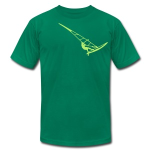 Surfer (Vector) - Men's T-Shirt by American Apparel