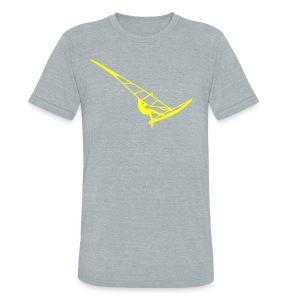 Surfer (Vector) - Unisex Tri-Blend T-Shirt by American Apparel