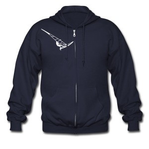 Surfer (Vector) - Men's Zip Hoodie