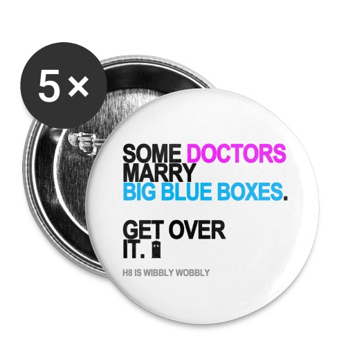 Some Doctors Marry Big Blue Boxes Button - Small Buttons