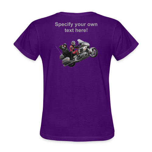 Ladies T Back Wingwheelie Custom - Women's T-Shirt