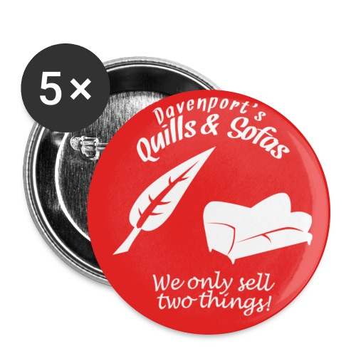 Quills and Sofas button - Large Buttons