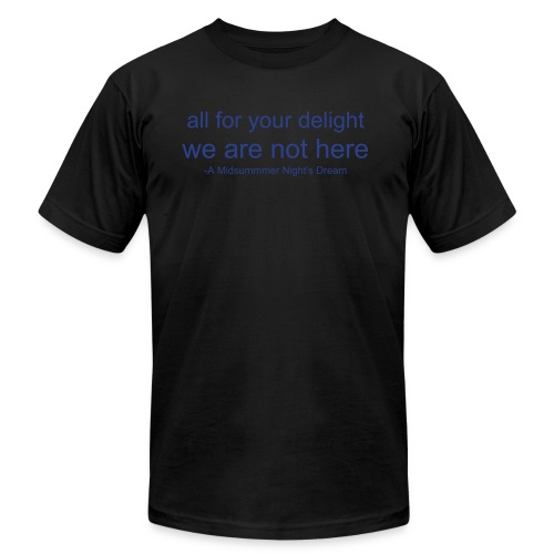 We Are Not Here - Men's Fine Jersey T-Shirt