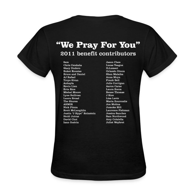 YouTube Singers Edition - We Pray for You/ Front & Back Design