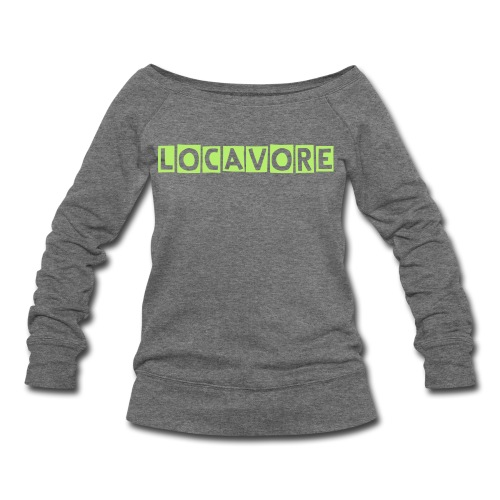 Locavore Women's widenecked sweatshirt gray/lime - Women's Wideneck Sweatshirt