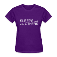 Women's T-Shirts ~ Women's T-Shirt ~ Sleeps well with others