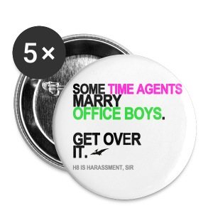 Some Time Agents Marry Office Boys Button - Small Buttons