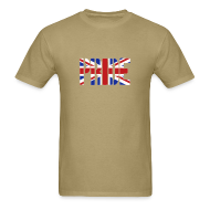 T-Shirts ~ Men's T-Shirt ~ PRIDE Britain Flag, British Flag, Union Jack, UK Flag