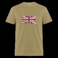 T-Shirts ~ Men's T-Shirt ~ PRIDE Britain Flag, British Flag, Union Jack, UK Flag