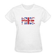 T-Shirts ~ Women's T-Shirt ~ PRIDE Britain Flag, British Flag, Union Jack, UK Flag