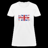 Women's T-Shirts ~ Women's T-Shirt ~ PRIDE Britain Flag, British Flag, Union Jack, UK Flag